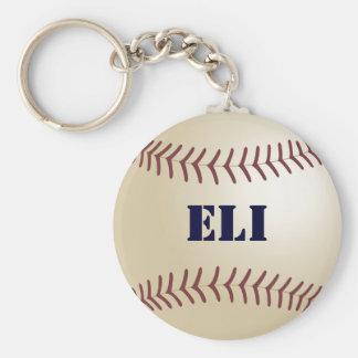 Eli Baseball Keychain by 369MyName