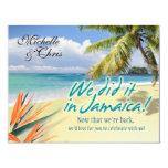 "Emerald Waters Reception Card (Jamaica) 4.25"" X 5.5"" Invitation Card"