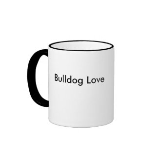 English Bulldog Illustration on Coffee Mug