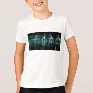 Équipe d'affaires avec l'expression sérieuse tee shirts