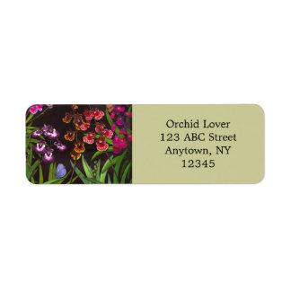 Equitant Oncidium Orchids Label Return Address Label