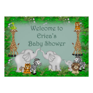 Erica's Jungle Baby Shower Poster