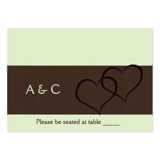 Escort Cards • Personalized Large Business Card