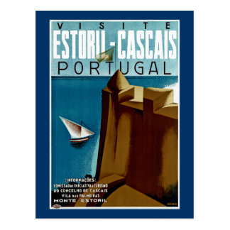 Estoril-Cascais in Portugal Postcard