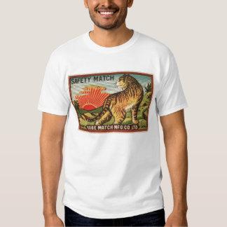 Étiquette vintage de match de sécurité - tigre t shirts