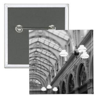 Europe, France, Paris. Interior, Galerie 2 Inch Square Button