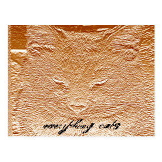 Everything Cats Design Postcard