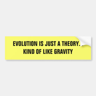 EVOLUTION IS JUST A THEORY... KIND OF LIKE GRAVITY BUMPER STICKER