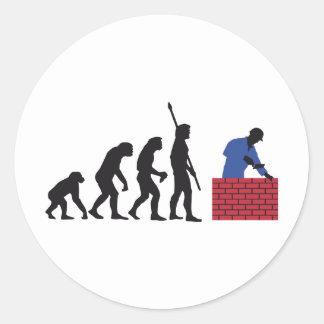 evolution mason round sticker