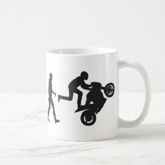 Évolution-Wheelie Mug Blanc