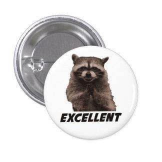 Excellent Evil Plotting Raccoon 1 Inch Round Button