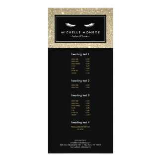 Eyelashes with Gold Glitter Rack Card