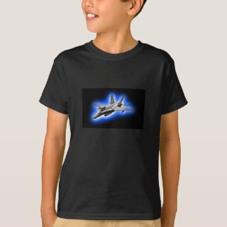 F/A-18 Hornet Fighter Jet Light Blue T Shirt