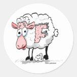 F Ewe Round Sticker