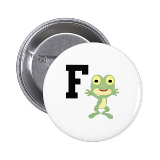 F is for Frogman 2 Inch Round Button