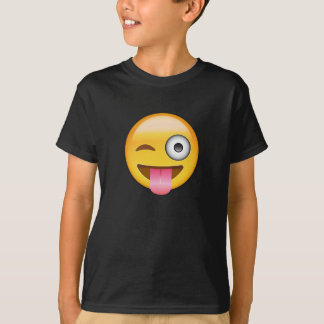Face With Stuck Out Tongue And Winking Eye Emoji T-shirts
