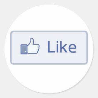 Facebook Like Round Sticker