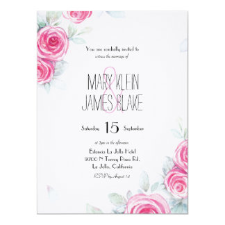 Faded Roses | Wedding Invite