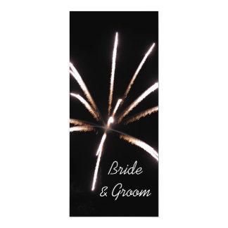 Faire-part de mariage de feux d'artifice