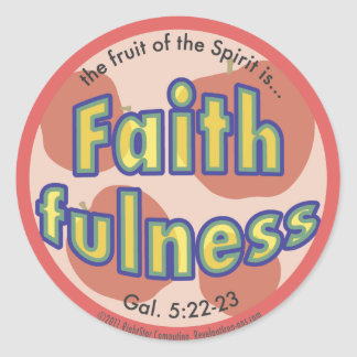 Faithfulness Fruit of the Spirit Spots Sticker