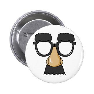 Fake Moustache Face 2 Inch Round Button