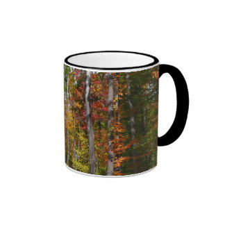 Fall in the Forest Colorful Autumn Photography Ringer Coffee Mug