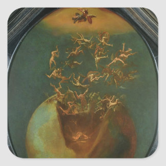 Fall of Satan and the Rebel Angels from Heaven Square Sticker