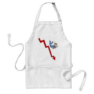 Falling Stock Market Businessman Cartoon Standard Apron