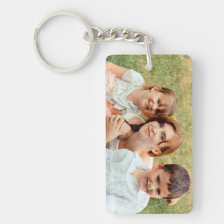 Family Photo Keepsake Single-Sided Rectangular Acrylic Keychain
