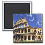 Famous ruins of the Coliseum in Rome Italy Square Magnet