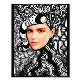 Fashion Face Tangle Photo Print