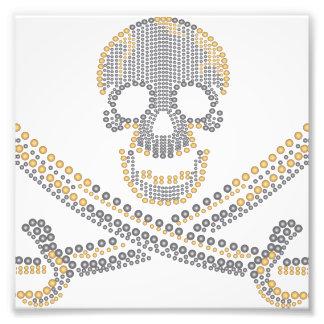 fashion pirate skull gold diamond and pearls photographic print