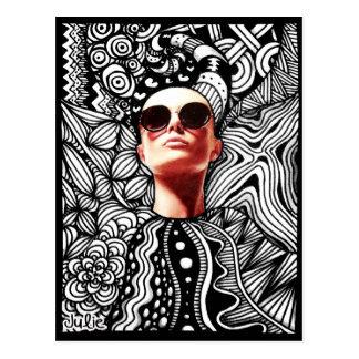 Fashion Tangle Postcard