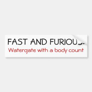 Fast and Furious Bumper Sticker