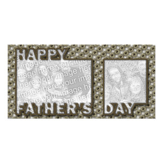 Fathers Day Cut Out ADD YOUR PHOTO Hero Badge Personalized Photo Card