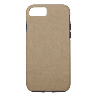 Faux Beige Leather iPhone 7 Case