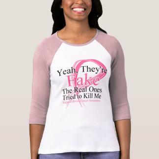 Faux - le vrai a essayé de me tuer - cancer du t shirts