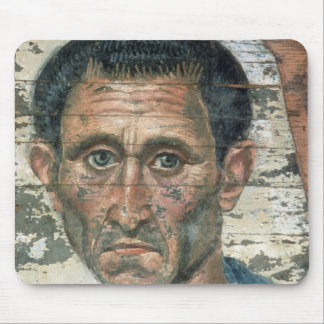 Fayum portrait of a man in a blue cloak, mouse pad