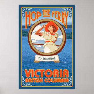 Ferry d'équitation de femme - Victoria, AVANT JÉSU Poster