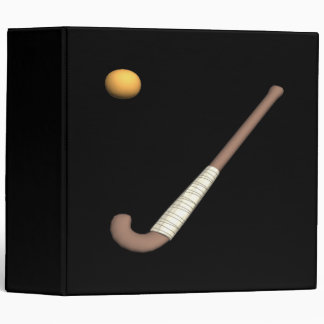 Field Hockey Stick & Ball 3 Ring Binders