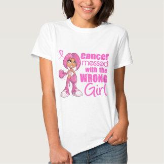 Fille 1 de combat de cancer du sein tshirt