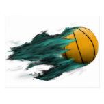 Fire Basketball Postcard