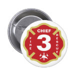 Fire Chief Badge Button