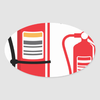 Fire extinguisher Vector Oval Sticker