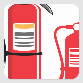 Fire extinguisher Vector Square Sticker