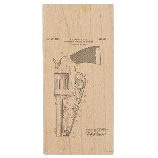 Firearms attachment patent - circa 1934 wood USB 2.0 flash drive