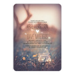 "Fireflies Mason Jar Rustic Garden Couples Shower 5"" X 7"" Invitation Card"