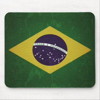 Flag of Brazil (grunge) Mouse Pad