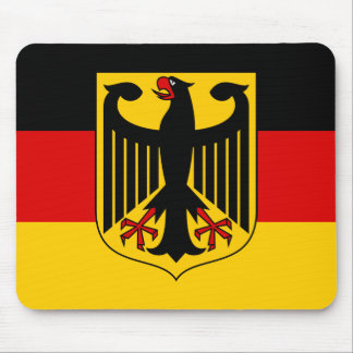 Flag of Germany with Crest Mouse Pad