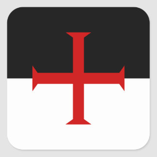Flag of the Knights Templar Square Sticker